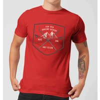 Image of Up To Snow Good Men's Christmas T-Shirt - Red - XS - Red
