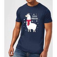 Fleece Navidad Mens Christmas T-Shirt - Navy - XXL - Navy