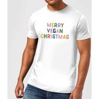 Merry Vegan Christmas Men's Christmas T-Shirt - White - 4XL - White