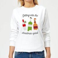 Getting Into The Christmas Spirit Women's Christmas Sweatshirt - White - XL - White