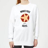 Mince Pies Before Guys Women's Christmas Sweatshirt - White - XXL - White