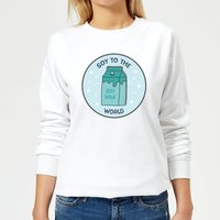 Soy To The World Women's Christmas Sweatshirt - White - XL - White