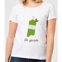 Gin-gle Bells Women's Christmas T-Shirt - White - M - White