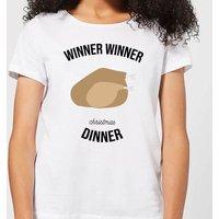 Winner Winner Christmas Dinner Women's Christmas T-Shirt - White - S - White