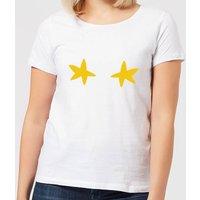 Stars Women's Christmas T-Shirt - White - S - White