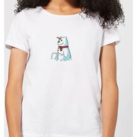 Unicorn Snowman Women's Christmas T-Shirt - White - XL - White