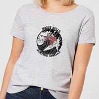 Jungle Bells, Surfing Swells Women's Christmas T-Shirt - Grey - 5XL - Grey