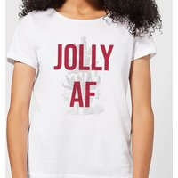 Jolly AF Women's Christmas T-Shirt - White - XXL - White