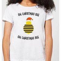 Oh Christmas Bee Oh Christmas Bee Women's Christmas T-Shirt - White - S - White