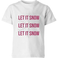 Let It Snow Kids' Christmas T-Shirt - White - 5-6 Years - White