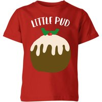 Little Pud Kids' Christmas T-Shirt - Red - 9-10 Years - Red