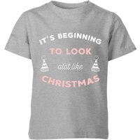 It's Beginning To Look A Lot Like Christmas Kids' Christmas T-Shirt - Grey - 7-8 Years - Grey