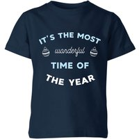 It's The Most Wonderful Time Of The Year Kids' Christmas T-Shirt - Navy - 7-8 Years - Navy