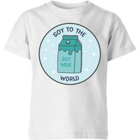 Soy To The World Kids' Christmas T-Shirt - White - 7-8 Years - White