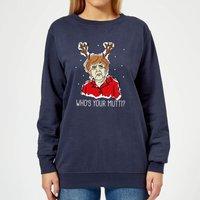 Who's Your Mutti? Women's Christmas Sweatshirt - Navy - M - Navy