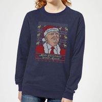 Make Christmas Great Again Women's Christmas Sweatshirt - Navy - L - Navy