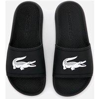 Lacoste Women's Croco Slide 119 3 Sandals - Black/White - UK 4