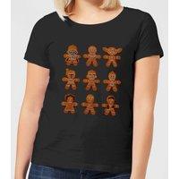 Star Wars Gingerbread Characters Women's Christmas T-Shirt - Black - XXL