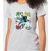 Marvel Black Widow Captain America Women's Christmas T-Shirt - Grey - M - Grey