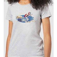 Looney Tunes Peace Among Earthlings Women's Christmas T-Shirt - Grey - S - Grey