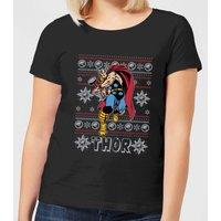 Marvel Thor Women's Christmas T-Shirt - Black - S - Black