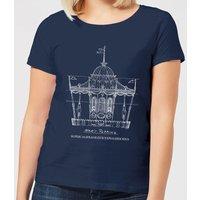 Mary Poppins Carousel Sketch Women's Christmas T-Shirt - Navy - XXL - Navy