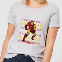 Marvel Iron Man Women's Christmas T-Shirt - Grey - XXL - Grey