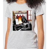Star Wars Darth Vader Piano Player Women's Christmas T-Shirt - Grey - S - Grey