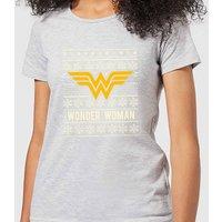 DC Wonder Woman Women's Christmas T-Shirt - Grey - S - Grey