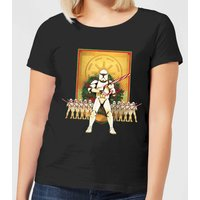 Star Wars Candy Cane Stormtroopers Women's Christmas T-Shirt - Black - S - Black