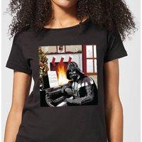 Star Wars Darth Vader Piano Player Women's Christmas T-Shirt - Black - L - Black
