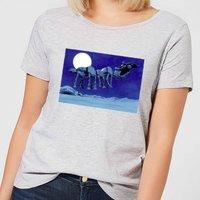 Star Wars AT-AT Darth Vader Sleigh Women's Christmas T-Shirt - Grey - XXL - Grey