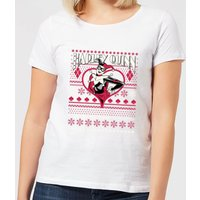 DC Harley Quinn Women's Christmas T-Shirt - White - 4XL