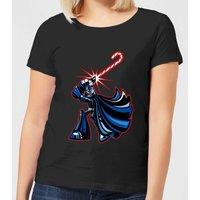 Star Wars Candy Cane Darth Vader Women's Christmas T-Shirt - Black - 4XL - Black