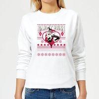 DC Harley Quinn Women's Christmas Sweatshirt - White - XXL - White
