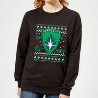 Guardians Of The Galaxy Badge Pattern Christmas Women's Christmas Sweatshirt - Black - XXL - Black