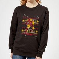 Marvel Iron Man Women's Christmas Sweatshirt - Black - S - Black