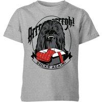 Star Wars Chewbacca Arrrrgh Socks Again Kids' Christmas T-Shirt - Grey - 11-12 Years - Grey