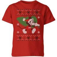 Disney Tree Mickey Kids' Christmas T-Shirt - Red - 3-4 Years - Red