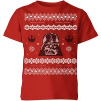 Star Wars Darth Vader Knit Kids' Christmas T-Shirt - Red - 9-10 Years - Red