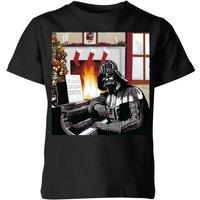 Star Wars Darth Vader Piano Player Kids' Christmas T-Shirt - Black - 5-6 Years