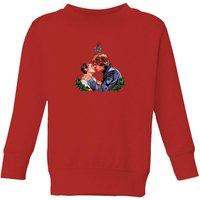 Star Wars Mistletoe Kiss Kids' Christmas Sweatshirt - Red - 7-8 Years - Red