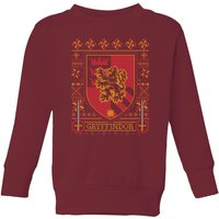 Harry Potter Gryffindor Crest Kids' Christmas Sweatshirt - Burgundy - 9-10 Years