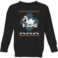 Disney Frozen Olaf and Snowmen Kids' Christmas Sweatshirt - Black - 5-6 Years - Black