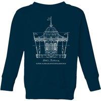 Mary Poppins Carousel Sketch Kids' Christmas Sweatshirt - Navy - 11-12 Years - Navy