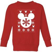 Disney Snowflake Silhouette Kids' Christmas Sweatshirt - Red - 3-4 Years - Red