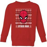 Marvel Spider-Man Kids' Christmas Sweatshirt - Red - 5-6 Years