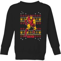 Marvel Iron Man Kids' Christmas Sweatshirt - Black - 7-8 Years - Black