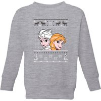 Disney Frozen Elsa and Anna Kids' Christmas Sweatshirt - Grey - 3-4 Years - Grey