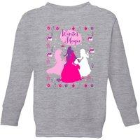Disney Princess Silhouettes Kids' Christmas Sweatshirt - Grey - 3-4 Years - Grey